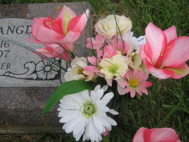 Remembering a beloved teacher.  This woman, from the headstone information, appeared to have no family, but she was fondly remembered still.
